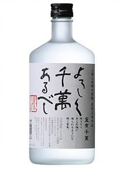 本格米焼酎黄麹三段仕込み「よろしく千萬あるべし」水割り・ロック 各¥550