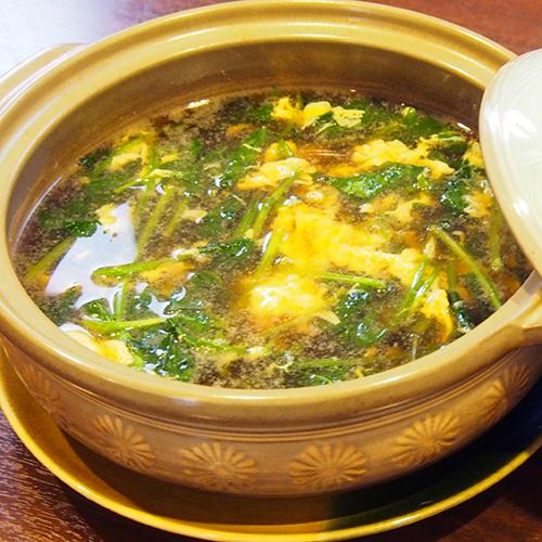 地野菜 青菜のスープ