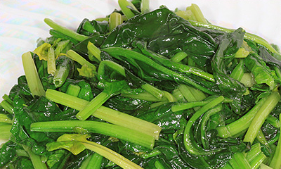 地場産青菜料理